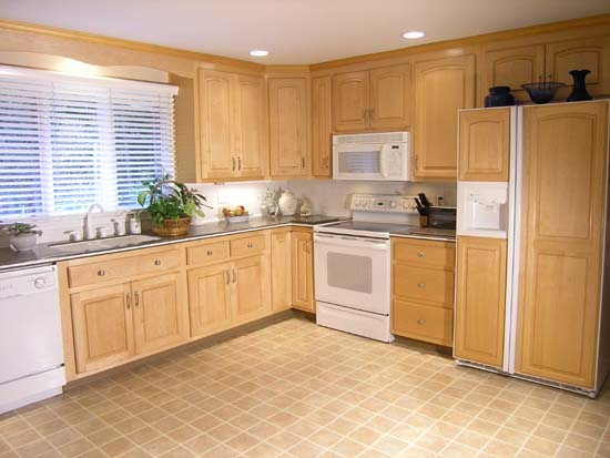 Kitchen cabinet resurfacing refacing and refinishing in for Maple kitchen cabinets for sale
